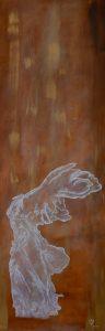 Öl auf Leinen, 50x150 cm, Goldpigmente, Bronzepigmente, Schlussfirnis